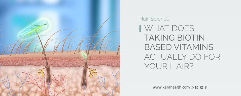 What does taking biotin based vitamins actually do for your hair?