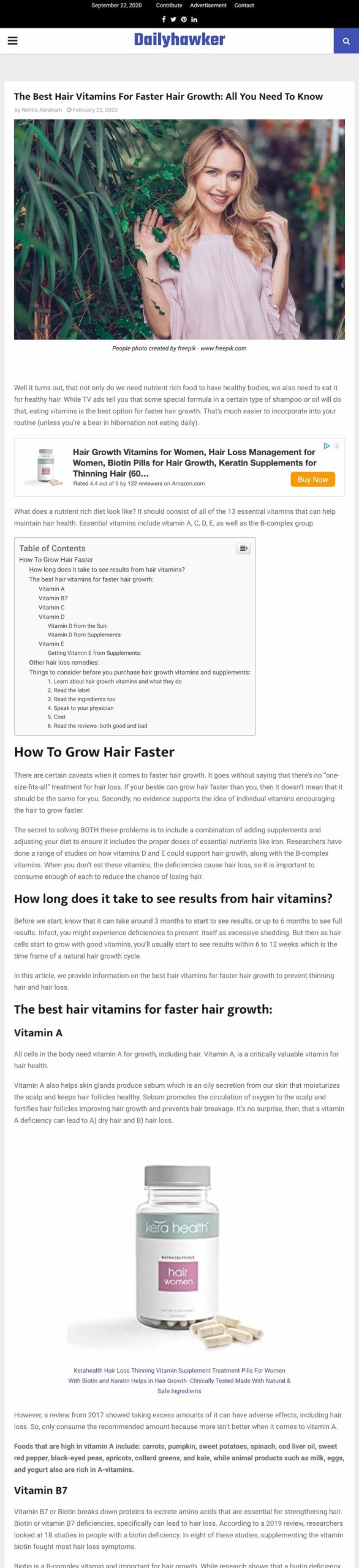 The Best Hair Vitamins For Faster Hair Growth: All You Need To Know