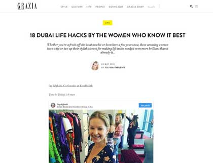In the press – 18 Dubai life hacks by the women who know it best