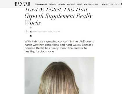 In the press – Tried & Tested: This Hair Growth Supplement Really Works