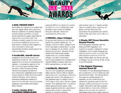 In the press – Pure beauty global awards 2021